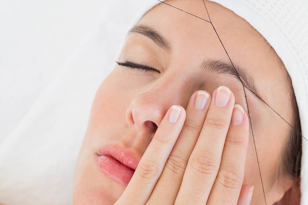 Nitkowanie brwi, eyebrow threading