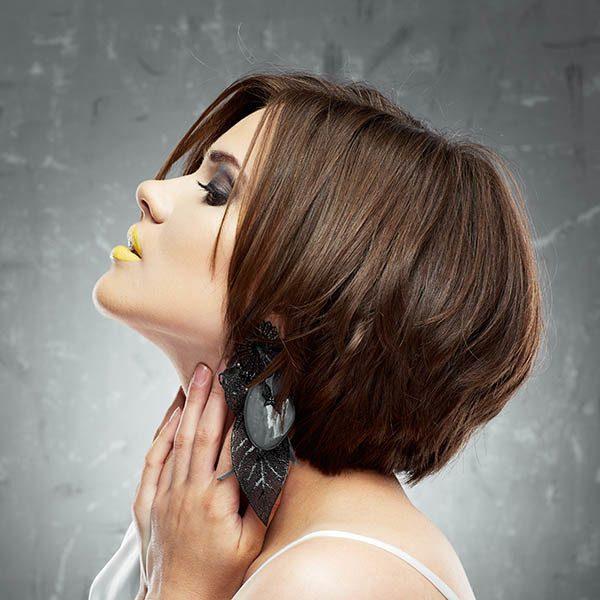 Fryzura Glamour Look Włosy średnie