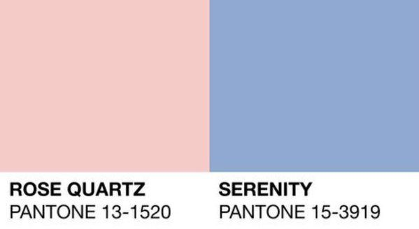 Pantone color of the year 2016 - Rose Quartz i Serenity